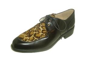zapato-abotinado-mujer-piel-negra-combinado-piel-potro-estampado-print-animal-cordones-pequeno-tacon-cuadrado-candelitas