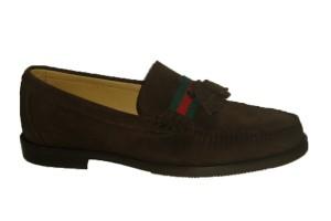 zapato-mocasin-hombre-piso-caucho-piel-ante-marron-expreso-decorado-cinta-gucci-borlas-castellano